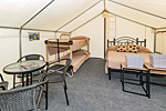 Glamping Tent Full Bed and Bunk Option