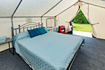 Glamping Tent Queen Bed Option